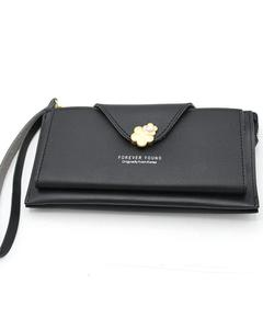 Stylish Lady Wallet Phone Pouch Handbag For Women -Black