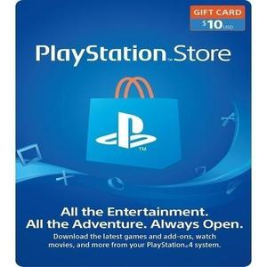 Playstation $10 Sony Network Gift Card- United States