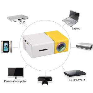 YG-300 LED Portable Projector 600LM 3.5mm Audio 320 x 240 Pixels YG-300 USB (F)