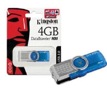 KINGSTON 4 GB USB Flash Fast Data Traveler by Multicolored