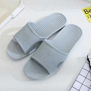 Men Stripe Flat Bath Slippers Summer Sandals Indoor & Outdoor Slippers