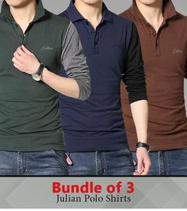 Bundle of 3 - Julian Polo Shirts