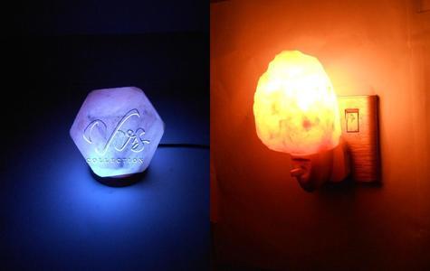Diamond Shape USB Salt Lamp and Natural Shape Salt Night Light