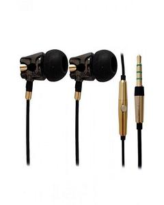 A4TECH MK-790 - HD Ceramic Earphone - Black Secure Fit Metallic Earphone With Mic / Fit In Ear With Creamic Housing