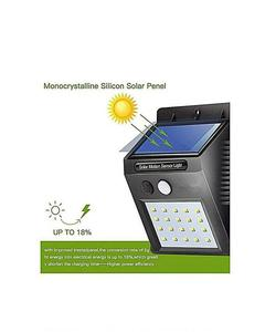Solar Powered Night Sensor Light Outdoor Security Wall Light