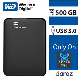 500 GB Portable Hard Disk External 500GB WD Element Hard Drive USB 3.0