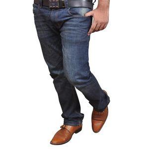 Spruce Blue Denim Pant With Blaster -WASTE 32