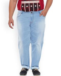 Men Blue Regular Fit Mid-Rise Clean Look Stretchable Jeans
