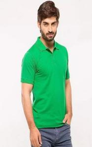 Green Poly-Cotton Polo T shirt