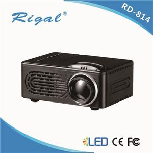 RD814 LCD 1080P  LED Portable Projector RD-814 Home Theatre Cinema LED USB Video Media Player with remote control (N)