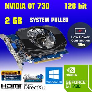 Gigabyte Nvidia Geforce GT 730 2GB GDDR 3 128 Bits PCI-E HDMI DVI VGA Graphics Card ( Low requirement 300W Power supply)