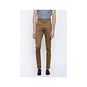 TorendoZon Brown Cotton Chino Pants For Mens