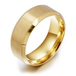 Stainless Steel Medical Finger Ring Creative Magnetic Weight Loss Jewelry gold 8