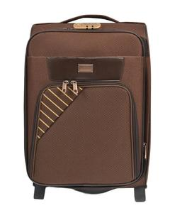 Asaan Parhai 2 Wheels (One Directional Wheels) Travel Suitcase Trolley Good Quality - 28 Inch Height - Brown