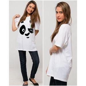 Panda White Printed T-Shirt For Her