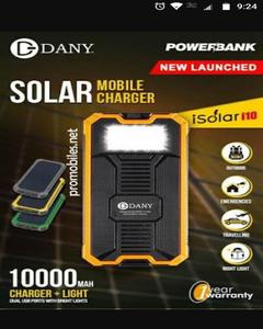 Fashion Master Solar Power Bank - Black & Orange