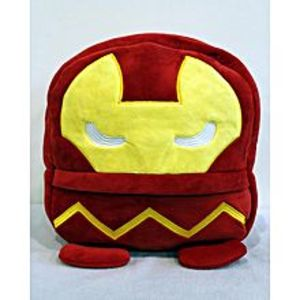 KIDS CARE Iron Man Stuffed Bag - 14 Inches - Red