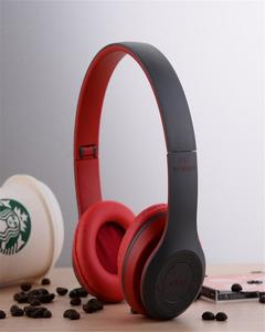 Professional Stereo P47 Wireless Bluetooth Headphones for Gaming - Red And Balck