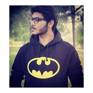 Black Batman Printed Hoodie. GNL-KH13