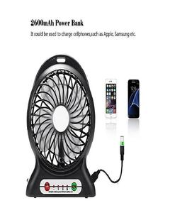 Usb Portable Fan Mini Rechargeable With Power Bank -