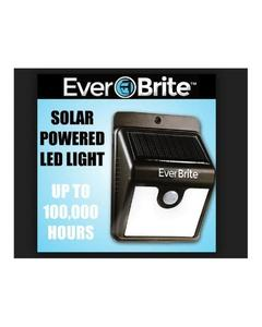 Ever Bright Solar Sensor Motion Activated LED Light - Black