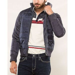 Denizen Blue Cotton R Block Poly Jacket Ebony For Men