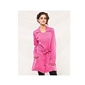 HappyshoppingWorldTrench Double Button Stylish Ladies Coat For Winter