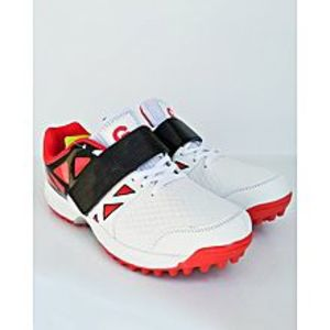 BEST OFFERS Red - Black And White Cricket Gripper Shoes For Men