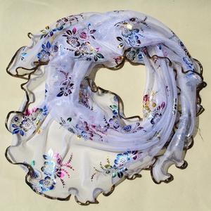 MissFortune Fashion Women Lady Long Soft Floral Print Mantilla Scarf Wrap Shawl