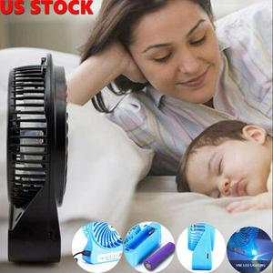 Portable Handheld Rechargeable Mini USB Fan Air Cooler Portable LED Light Fan Air Cooler Desk USB Fan Third Wind Battery