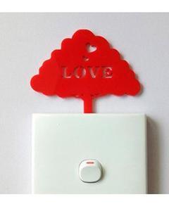 Red Tree Love Acrylic Wall Art
