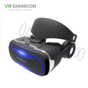 2018 Newest SHINECON SC-G02E Virtual Reality Smartphone 3D Glasses with Headphone