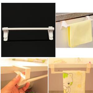 Kitchen Bathroom Plastic Clip Towels Rag Clothes Towel Racks Shelf Hooks Hanger