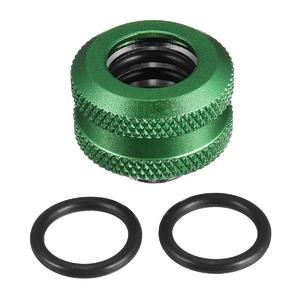 2pcs G1/4 Thread Quick Fixing Hard Tube Connector Fitting Hand Twist PC Water Cooling Green