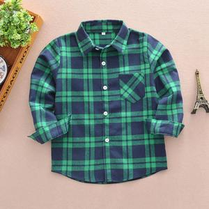2019 Kids Toddler Boys Girls Plaid T Shirt Checks Tops Blouse Clothes Outfits
