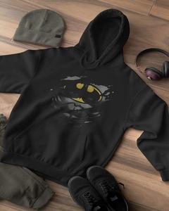 Black Batman Printed Hoodie For Women