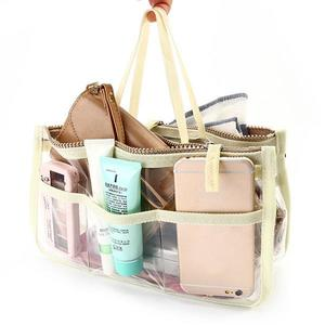 Women's Handbags Transparent multi-function storage bag double zipper finishing bag package Environmentally friendly EVA transparent cosmetic bag