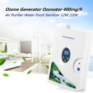 【Free Shipping + Flash Deal】Ozone Generator Ozonator 400mg/h Air Purifier Water Food Fruit Sterilizer 220V