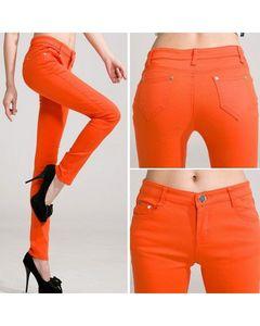 The Ajmery Womens Orange Skinny Jeans. BB-00029