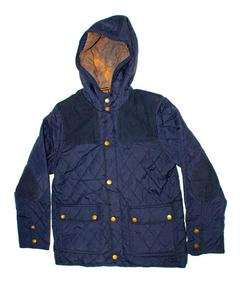 Stylish Blue Printed Zipper Hoodie Jacket for Boy