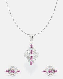 Anum Gold & Silver Jewellers New Vintage 925 Sterling Silver Antique Look Larger Pendant & Small Earring Set For Women