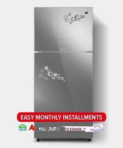 PEL INVERTER CURVED GLASS DOOR Series Top Mount Refrigerator - PRINVOGD 20170 - 370 L - Pattern Mirror Impression