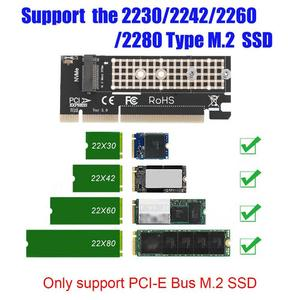 VAKIND- M.2 NVMe SSD NGFF to PCIE 3.0 16X/4X Adapter M Key Interface with Heatsink