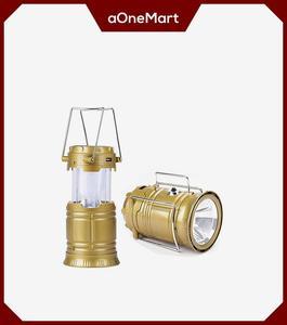 Multipurpose Solar Charging Light & Power Bank Golden Color