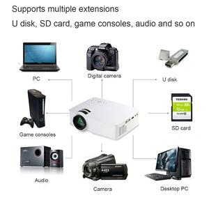 【Free Shipping + Flash Deal】Thinyou GP-9 3000 Lumens HDMI WIFI HD 1080P LCD Home Theatre Video Projector LED US Plug