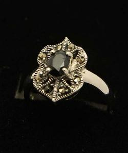 Sapphire Stone Silver Ring GB(5)4908