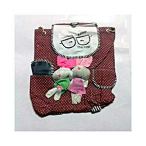 Living Style Maroon Bunny School Bag