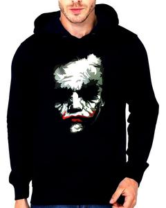 Joker Printed Black Hoodie Jacket For Men