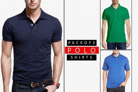 Pack of 3 -  Polo Stylish TShirts - Multicolour