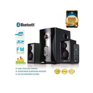 SHT-1003 - 2.1 Channel Home Theater Speaker System with Bluetooth & Sub-woofer - Black